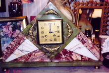French Marble Art Deco Clock