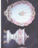 French Pink ground Partial Lunch Set