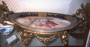 French Sevres Platter on Bronze
