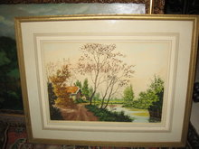 Paul Granville signed Etching