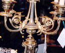 French Dore' Bronze Candlabras--pair