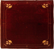 19th Century Embroidery on Red Crushed Velvet