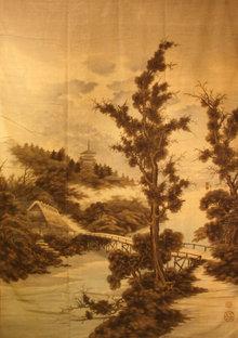 19th Century Japanese Silk Tapestry