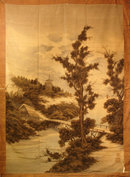 19th Century Japanese Silk Tapestry