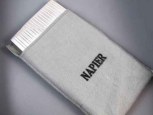 7.2 ounce Vintage Art Deco signed Napier sterling silver cigarette case, tobacciana, smoking, wallet, business card case, bill fold