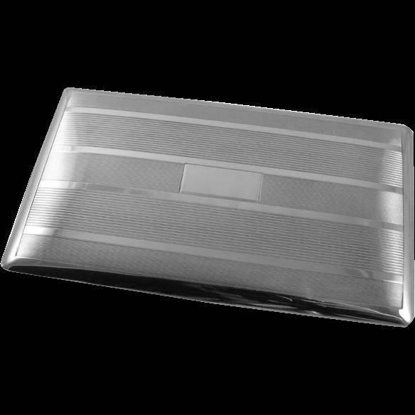 4.7 ounce vintage Art Deco signed Watrous sterling silver cigarette case, smoking, tobacciana, business card case