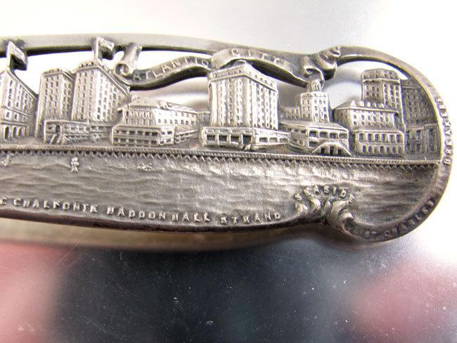 Watson 1920s Art Deco Atlantic City Boardwalk New Jersey  sterling silver souvenir tea spoon- phenomenal detail