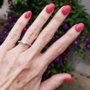 Vintage Art Deco platinum 1.06 carat diamond ETERNITY engagement ring, size 7.5, circa 1920s