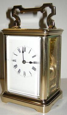 Striking carriage clock