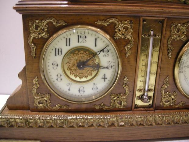 Combination Clock and Barometer
