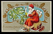 Santa Claus with Candle 1908 Postcard