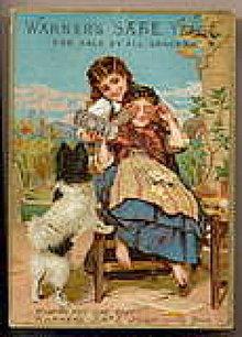 Warner's Safe Yeast 1884 Girls w Dog Trade Card