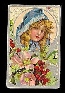 Frances Brundage? Christmas Girl 1913 Postcard