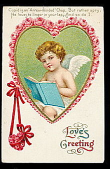 Love's Greeting Cherub Valentine's Day Postcard