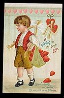 Ellen Clapsaddle Valentine's Day 1908 Postcard