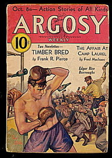 Oct  8 1932 ARGOSY Edgar Rice Burroughs PULP Magazine