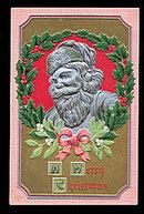 Silver Santa Claus Profile P Sander 1908 Postcard