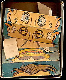 Early 1900s Change-A-Face Paper Puzzle Toy