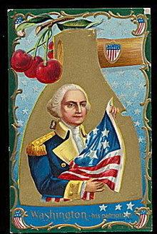 Winsch George Washington Patriotic 1907 Postcard