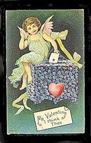 Gorgeous Valentine's Day Cherub 1909 Postcard