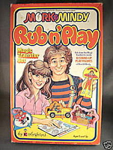 1979 Colorforms Mork & Mindy Rub N Play