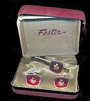 Vintage Foster Loyal Order of Moose Cufflinks in Case