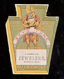 Keystone JEWELER Watch Cases Die Cut Trade Card