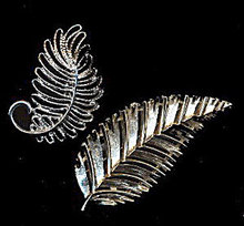 2 Lovely Leaf Brooches/Pins - includes Lisner