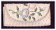 Vintage 'Bags by Debbie' Embroidered Clutch Bag