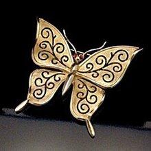Vintage Trifari Goldtone Butterfly Brooch