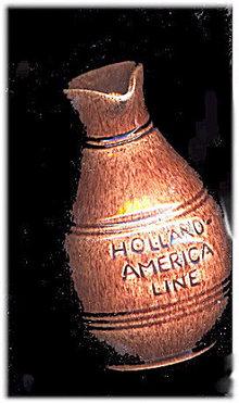 Vintage Holland America Line Water Jug