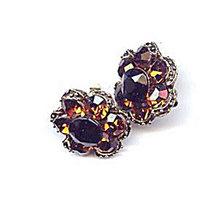 Lovely Vintage Purple/Brown Glass Earrings