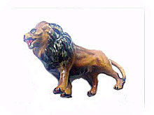 Vintage Japan Composition Lion - Excellent