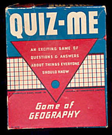'Quiz-Me' 1930s Game of Geography