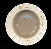 Vintage Holland America Line Ceramic Ashtray
