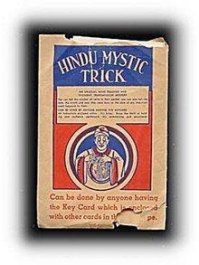 1920s Hindu Mystic Tricks in Packet