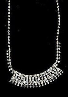 "Stunning 14"" Rhinestone Choker Necklace"
