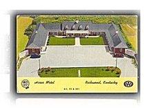 Richmond, KY, Hines Motel 1958 Postcard