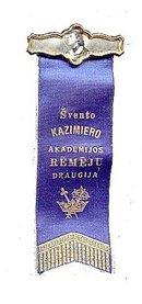 Svento Kazimiero Academic Ribbon with Celluloid