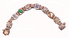 Heavy with Insets Metal & Stone Vintage Bracelet
