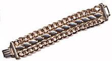 """Lovely 7 1/2"""" Vintage Goldtone Metal Wide Bracelet"""