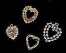 4 Vintage Heart Pins and Pendants