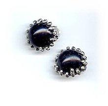 Lovely Judy Lee Black & Silvertone Earrings