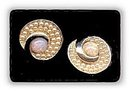 Lovely Moonstone Vintage Pink Stones Earrings