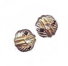Lovely Goldtone w Black & White Carolee Earrings