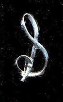 Sarah Coventry Silvertone Initial 'S' Pin