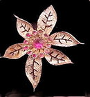 "Sarah Coventry ""Fashion Flower"" 1950s Brooch"