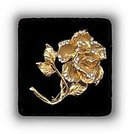 """Lovely 3 1/4"""" Goldtone with Stones Rose Brooch"""