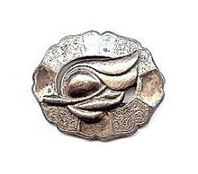 """Sterling Silver Cala Lily Old 2 1/2"""" Brooch"""