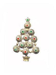 Lovely Vintage Goldtone Christmas Tree Brooch